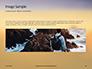 Man Sitting on Edge Cliff Facing Sunset Presentation slide 10
