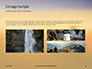 Man Sitting on Edge Cliff Facing Sunset Presentation slide 12