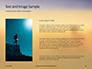 Man Sitting on Edge Cliff Facing Sunset Presentation slide 15