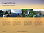 Man Sitting on Edge Cliff Facing Sunset Presentation slide 16