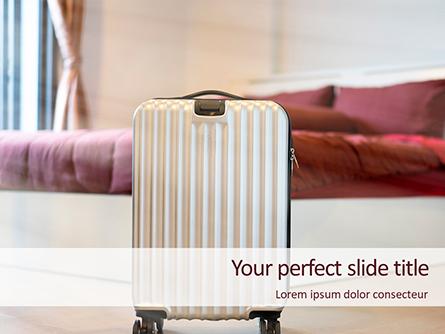 Luggage in the Hotel Room Presentation Presentation Template, Master Slide