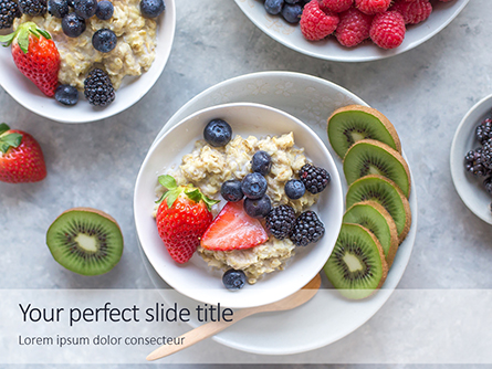 Homemade Oatmeal with Berries Presentation Presentation Template, Master Slide