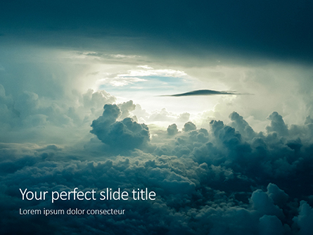 Light in the Dark and Dramatic Storm Clouds Presentation Presentation Template, Master Slide