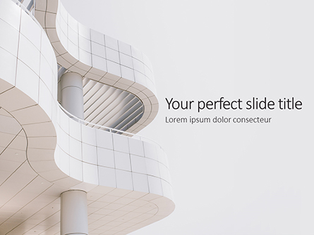 Worm's Eye View on White Concrete Building Presentation Presentation Template, Master Slide