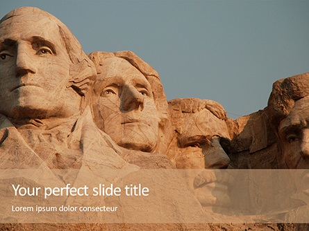 Mount Rushmore Presentation Presentation Template, Master Slide