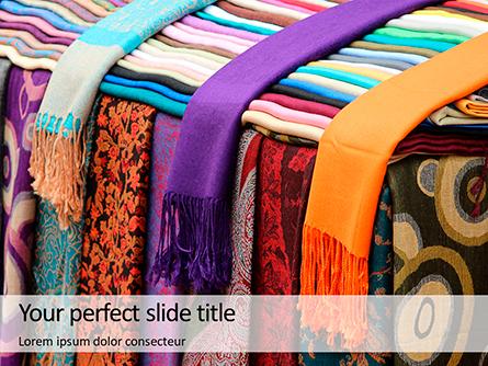 Bright Colored Silk Scarves Presentation Presentation Template, Master Slide