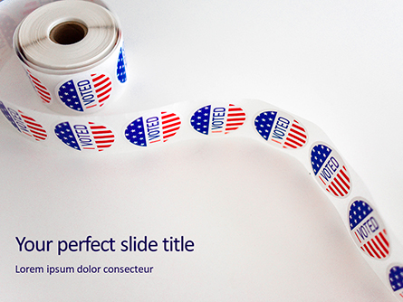 Roll of I Voted Stickers Presentation Presentation Template, Master Slide