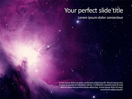 The Orion Nebula Presentation Presentation Template, Master Slide