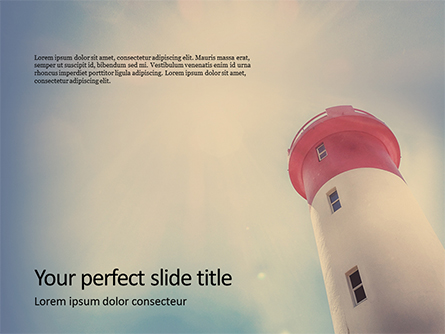 Worm`s Eye View of Lighthouse Presentation Presentation Template, Master Slide
