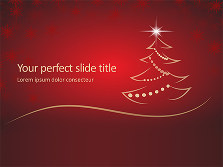 Christmas Greeting Card Background Presentation Presentation Template, Master Slide