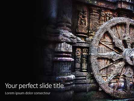 Ashoka Chakra at the Konark Sun Temple Presentation Presentation Template, Master Slide