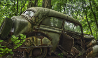 Old Car on Cemetery Presentation Presentation Template