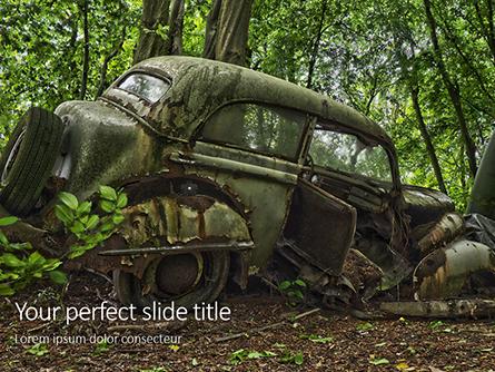 Old Car on Cemetery Presentation Presentation Template, Master Slide