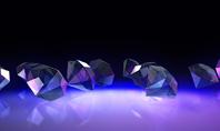 Group of Diamonds on Black Background Presentation Presentation Template