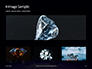 Group of Diamonds on Black Background Presentation slide 13