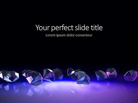 Group of Diamonds on Black Background Presentation Presentation Template, Master Slide