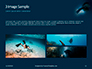 Scuba Diver Silhouette Against Sunburst Presentation slide 12