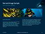 Scuba Diver Silhouette Against Sunburst Presentation slide 14