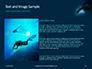 Scuba Diver Silhouette Against Sunburst Presentation slide 15