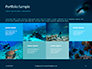 Scuba Diver Silhouette Against Sunburst Presentation slide 17