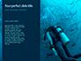 Scuba Diver Silhouette Against Sunburst Presentation slide 9