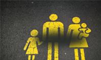 Family sign on Asphalt Presentation Presentation Template