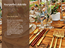 Wooden Dining Table with Flowers Decoration and Tableware Set Presentation slide 9