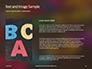 Assorted Color Alphabets Presentation slide 15