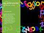 Assorted Color Alphabets Presentation slide 9