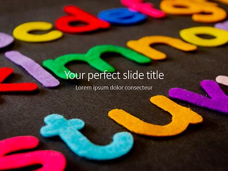 Assorted Color Alphabets Presentation Presentation Template, Master Slide