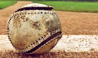 Baseball on Infield Chalk Line Presentation Presentation Template