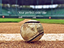 Baseball on Infield Chalk Line Presentation slide 1