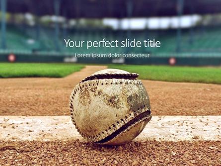 Baseball on Infield Chalk Line Presentation Presentation Template, Master Slide