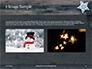 Several Hanging Ornaments on Wooden Background Presentation slide 11