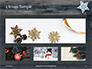 Several Hanging Ornaments on Wooden Background Presentation slide 13
