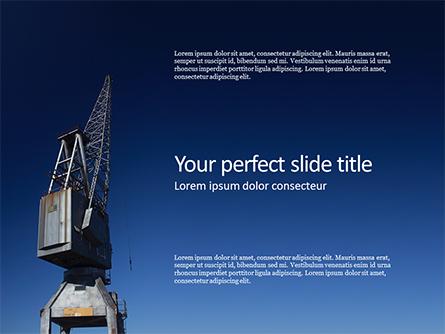 Gray Crane Under Blue Sky Presentation Presentation Template, Master Slide