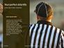 Closeup of The Back of American Football Referee Presentation slide 9