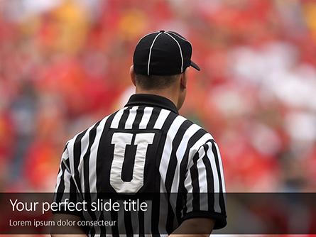 Closeup of The Back of American Football Referee Presentation Presentation Template, Master Slide