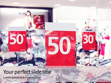Store Discount Signs Presentation Presentation Template, Master Slide