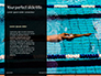 Muscular Young Man in Swimming Pool Presentation slide 9