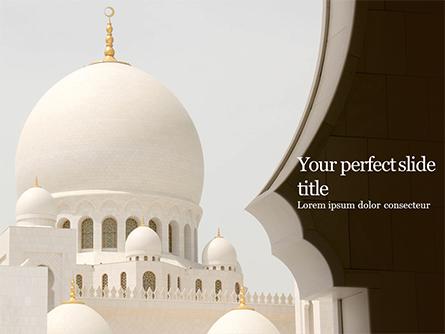 Abu Dhabi Sheikh Zayed White Mosque Presentation Presentation Template, Master Slide