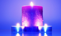 Blue and Purple Candles Presentation Presentation Template