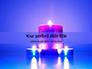 Blue and Purple Candles Presentation slide 1