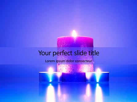 Blue and Purple Candles Presentation Presentation Template, Master Slide