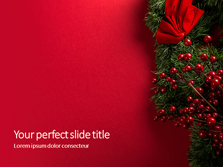 Christmas and New Year Red Background Presentation Presentation Template, Master Slide