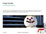 Snowman Against Blurred Festive Bokeh Background Presentation slide 10