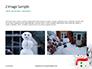 Snowman Against Blurred Festive Bokeh Background Presentation slide 11