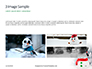 Snowman Against Blurred Festive Bokeh Background Presentation slide 12