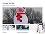Snowman Against Blurred Festive Bokeh Background Presentation slide 13