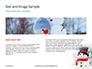 Snowman Against Blurred Festive Bokeh Background Presentation slide 14